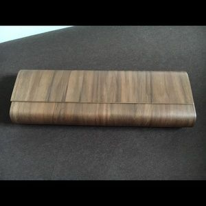 Handbags - One of kind wooden clutch!